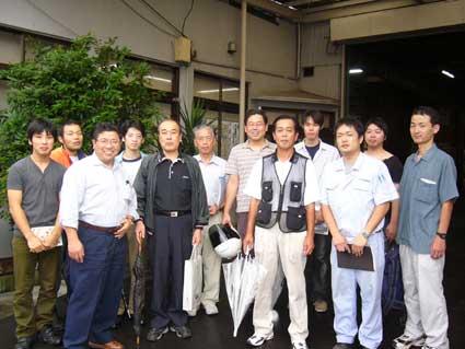 2006年10月5日・製粉工場見学・・・さぬきうどん科4期生の皆さん