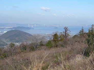 白峰山頂上→瀬戸内海 with 瀬戸大橋
