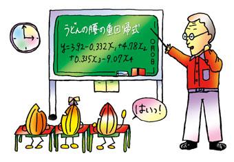 三木英三うどん博士によるうどん授業の一コマ