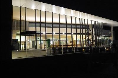 文化館の夜景