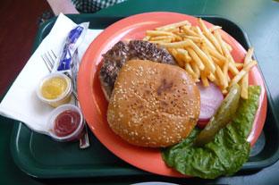 美味しいけれど高カロリーのハンバーガー